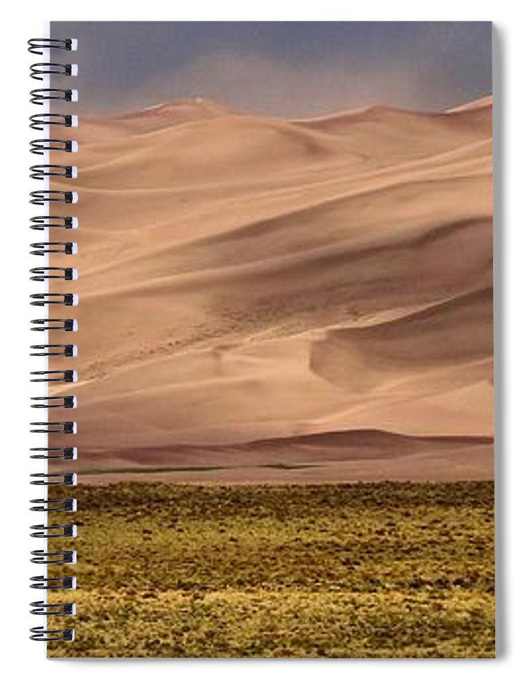 Great Sand Dunes In Colorado Spiral Notebook featuring the photograph Great Sand Dunes In Colorado by Dan Sproul