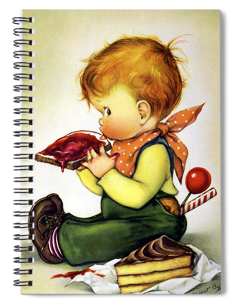 Greedy Petey Spiral Notebook featuring the painting Greedy Petey by Chalot Byj