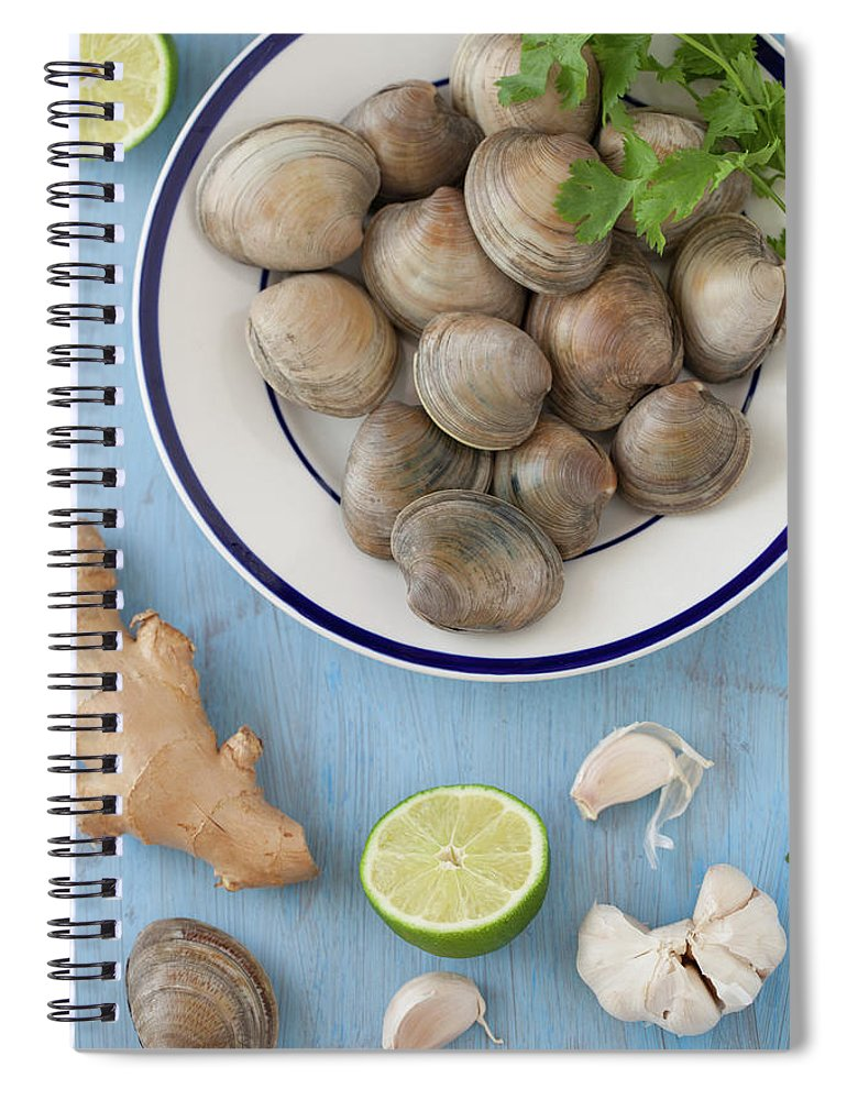 Newtown Spiral Notebook featuring the photograph Green Curry, Coconut, Garlic & Ginger by Yelena Strokin