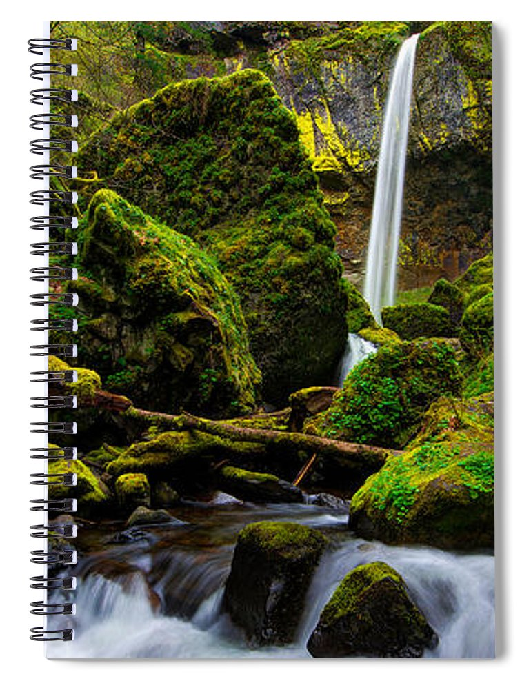 Pacific Spiral Notebook featuring the photograph Green Seasons by Chad Dutson