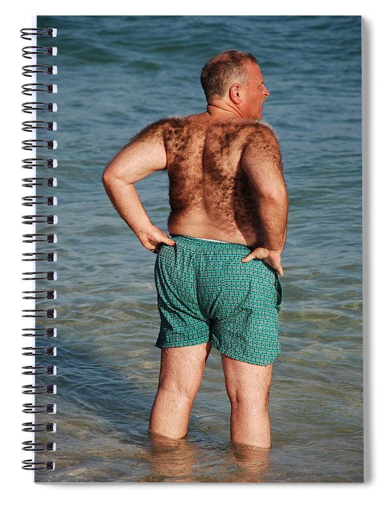 Man Spiral Notebook featuring the photograph Hairy Ocean by Rob Hans
