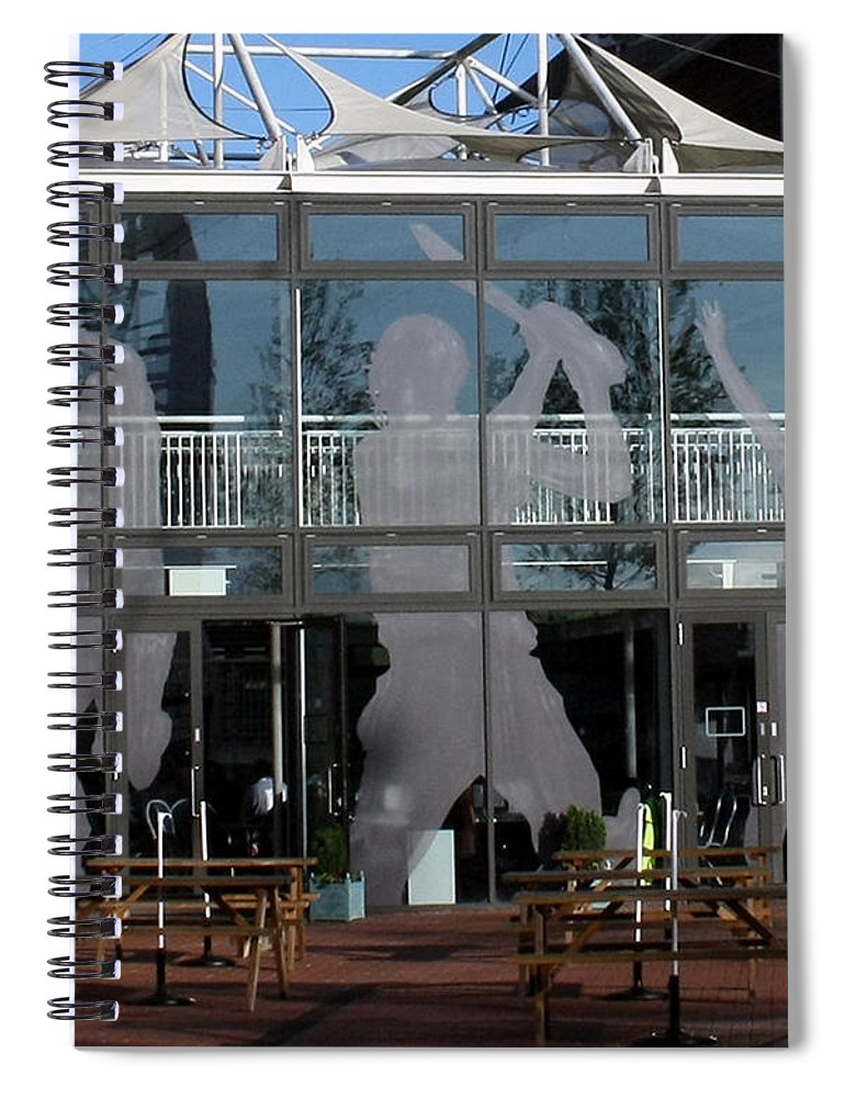 Cricket Spiral Notebook featuring the photograph Hampshire County Cricket Glass Pavilion by Terri Waters
