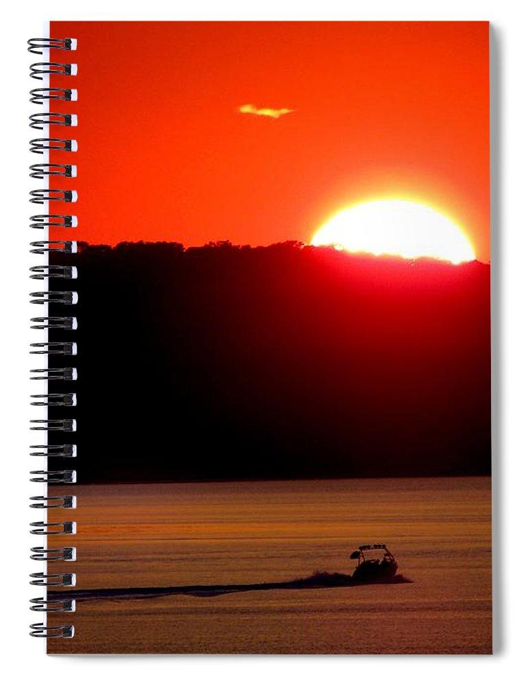 Sunset Spiral Notebook featuring the photograph Hamptons Sunset by Ed Weidman