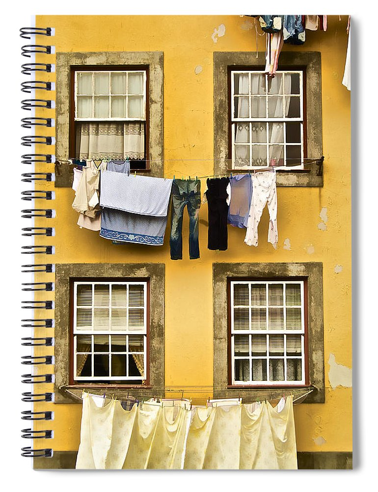 Art Spiral Notebook featuring the photograph Hanging Clothes Of Old World Europe by David Letts