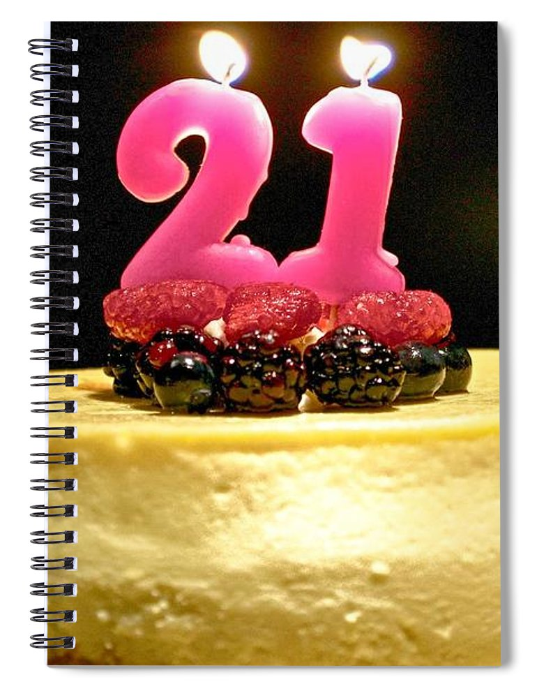 21st Birthday Card Spiral Notebook featuring the photograph Happy 21st Birthday by Kristina Deane
