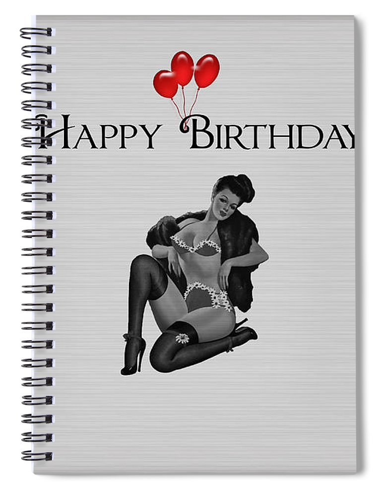 Happy Birthday Card Pin Up 3 Spiral Notebook For Sale By Becca Buecher