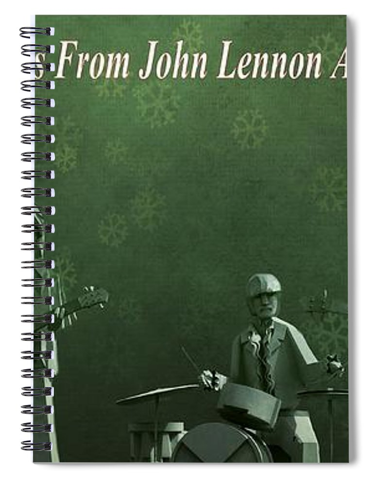 Happy Christmas From John Lennon Spiral Notebook featuring the photograph Happy Christmas From John Lennon by Dan Sproul
