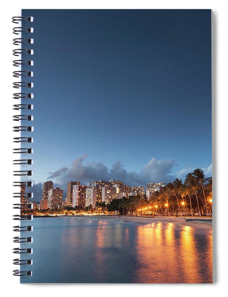 Honolulu Spiral Notebook featuring the photograph Hawaii, Oahu, Honolulu by Michele Falzone