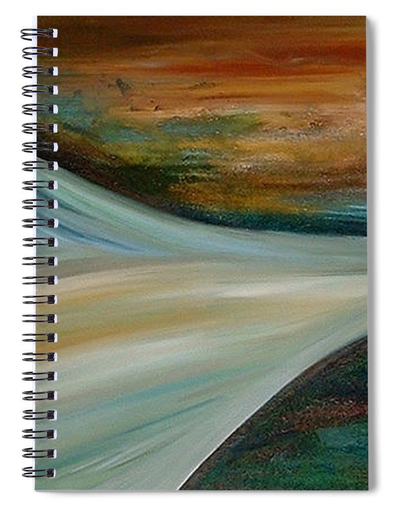Abstract Spiral Notebook featuring the painting Heaven by Silvana Abel