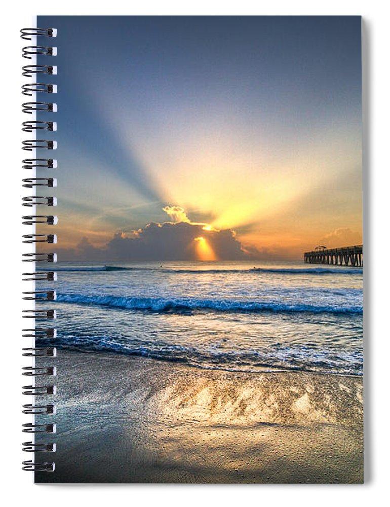 Palm Spiral Notebook featuring the photograph Heaven's Door by Debra and Dave Vanderlaan