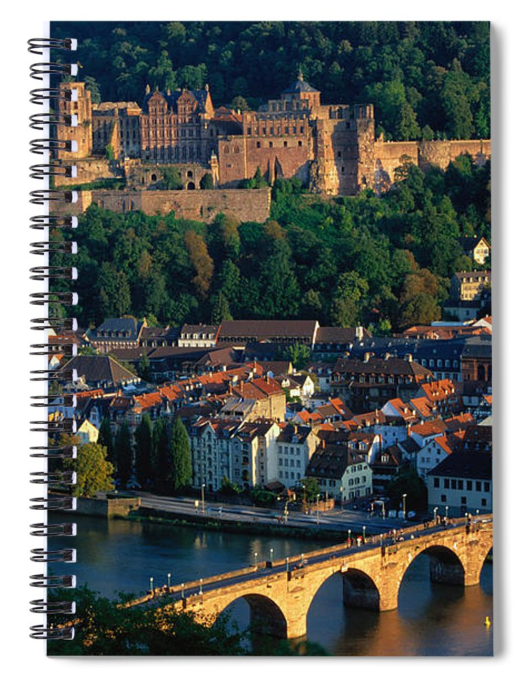 Landscape Spiral Notebook featuring the photograph Heidelberg, Germany by Gerhard Pieschel