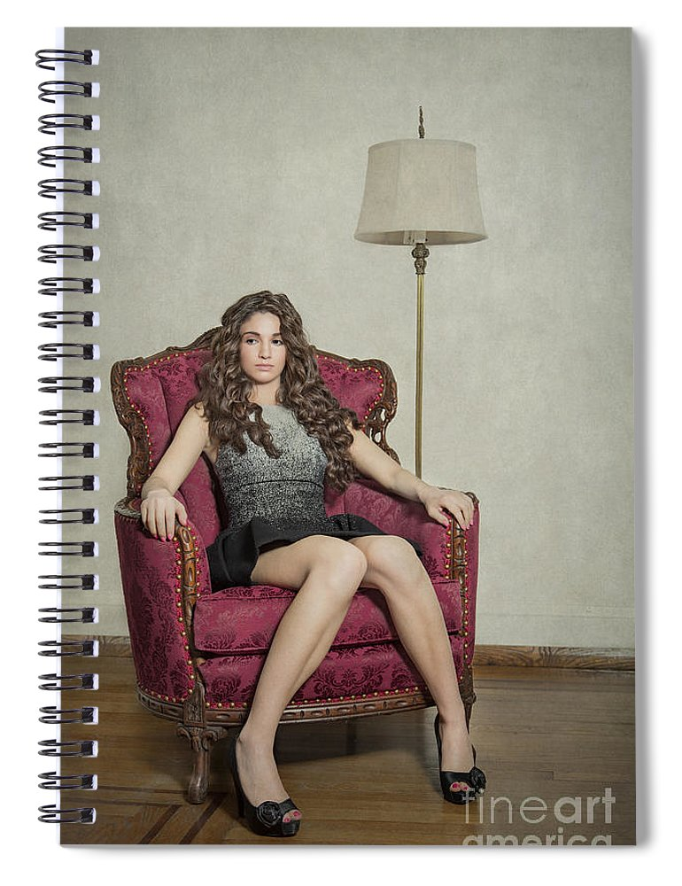 Girl Spiral Notebook featuring the photograph Her Majesty by Evelina Kremsdorf