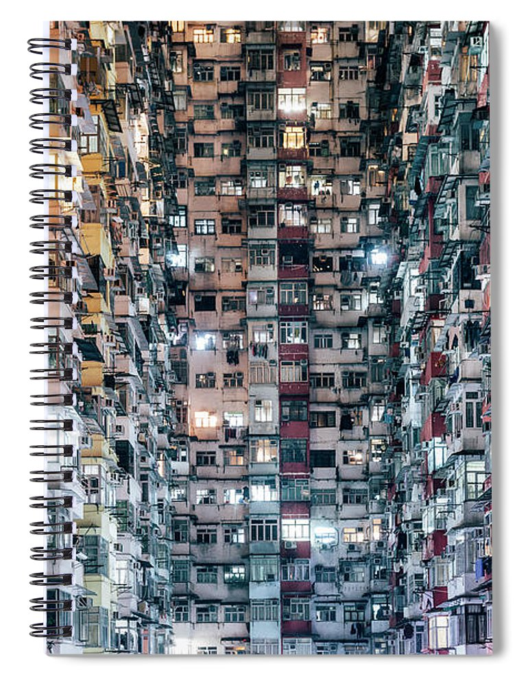 Chinese Culture Spiral Notebook featuring the photograph High Density Living by Visualspace