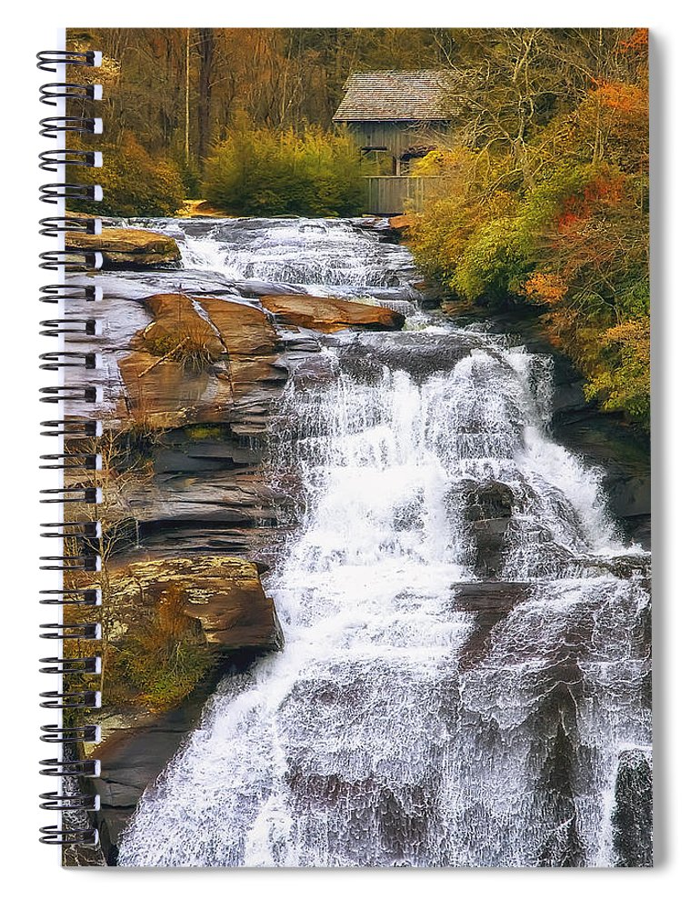 Water Spiral Notebook featuring the photograph High Falls by Scott Norris