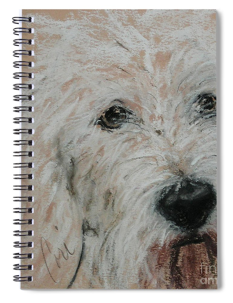 Dog Spiral Notebook featuring the pastel High Spirits by Cori Solomon