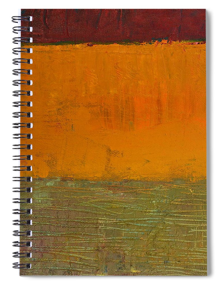 Abstract Expressionism Spiral Notebook featuring the painting Highway Series - Grasses by Michelle Calkins