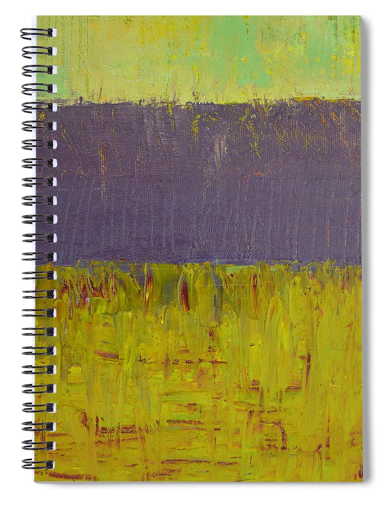 Abstract Expressionism Spiral Notebook featuring the painting Highway Series - Lake by Michelle Calkins