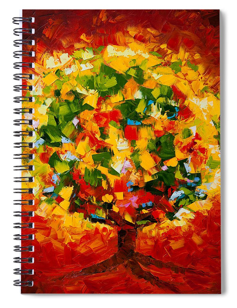 Mike Spiral Notebook featuring the painting Holy Ground by Mike Moyers