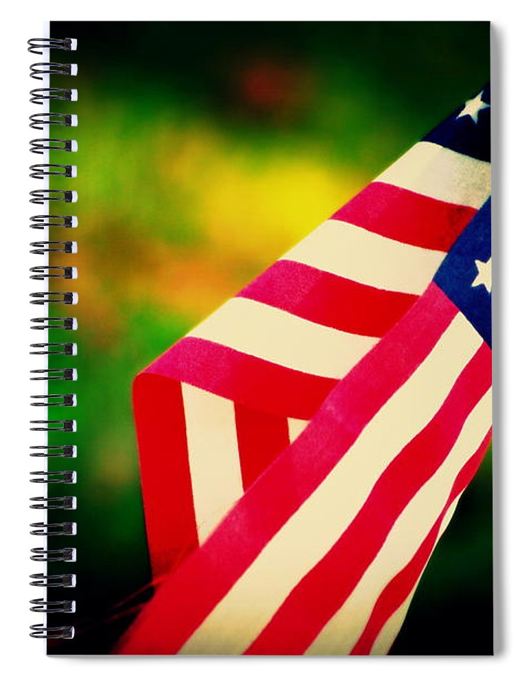 Flag Spiral Notebook featuring the photograph Home-land by Susanne Van Hulst