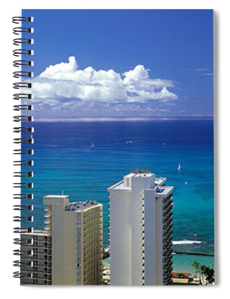 Photography Spiral Notebook featuring the photograph Honolulu Hawaii by Panoramic Images