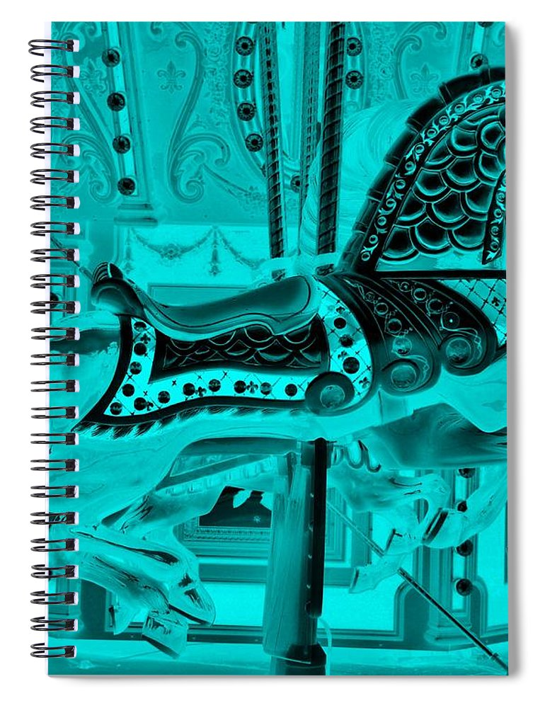 Carousel Spiral Notebook featuring the photograph Turquoise Horse E by Rob Hans