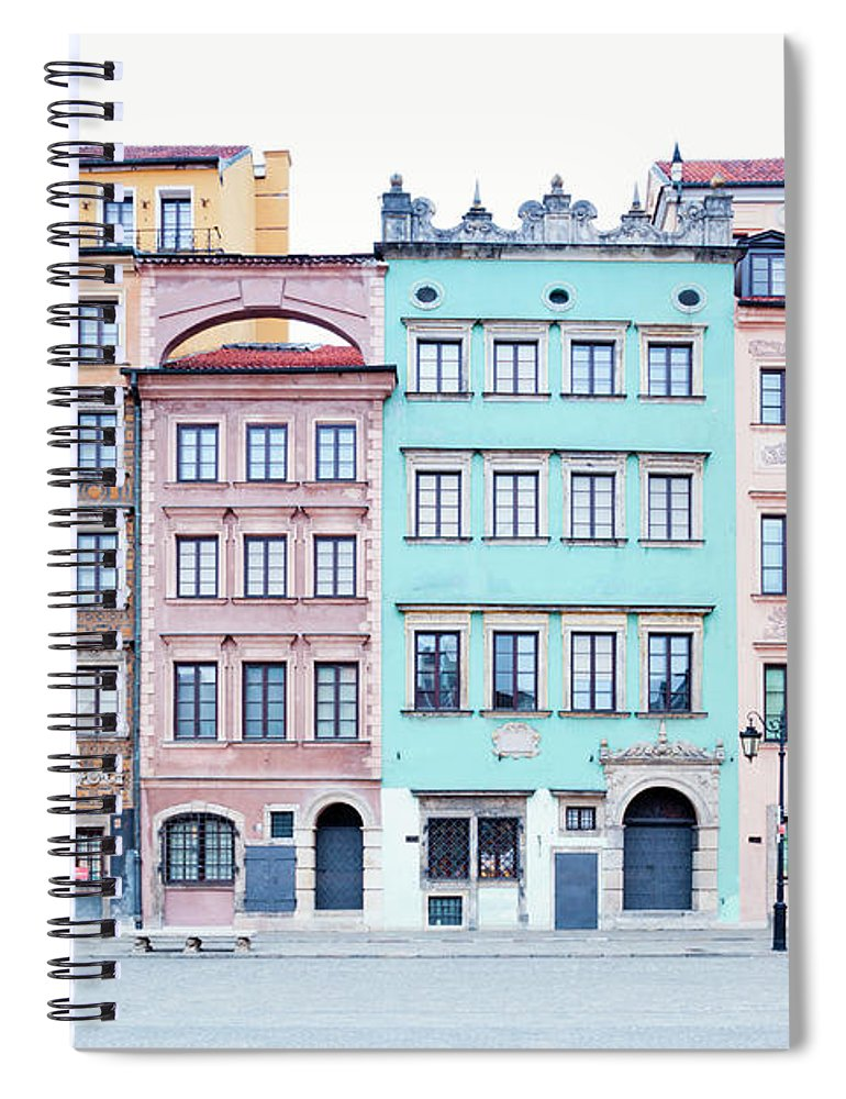 Apartment Spiral Notebook featuring the photograph Houses On Old Town Market Place by Jorg Greuel