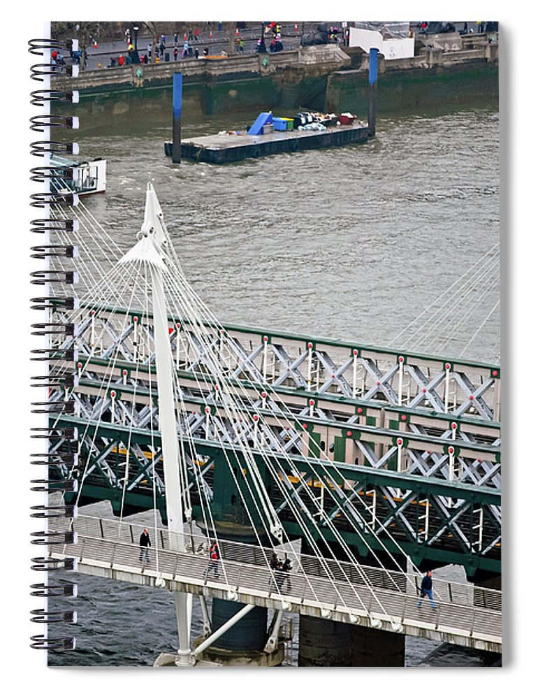 Britain Spiral Notebook featuring the photograph Hungerford Bridge by Christi Kraft
