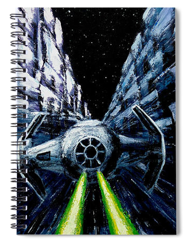 Star Wars Spiral Notebook featuring the painting I Have You Now by Marlon Huynh