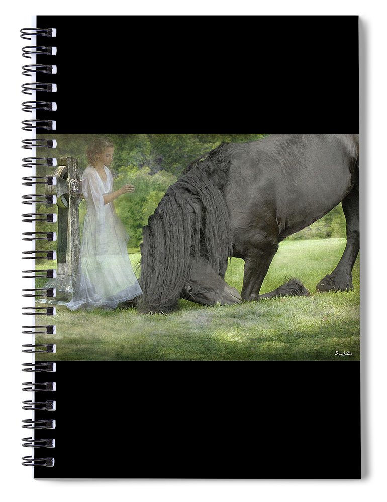 Horses Spiral Notebook featuring the photograph I Miss You by Fran J Scott