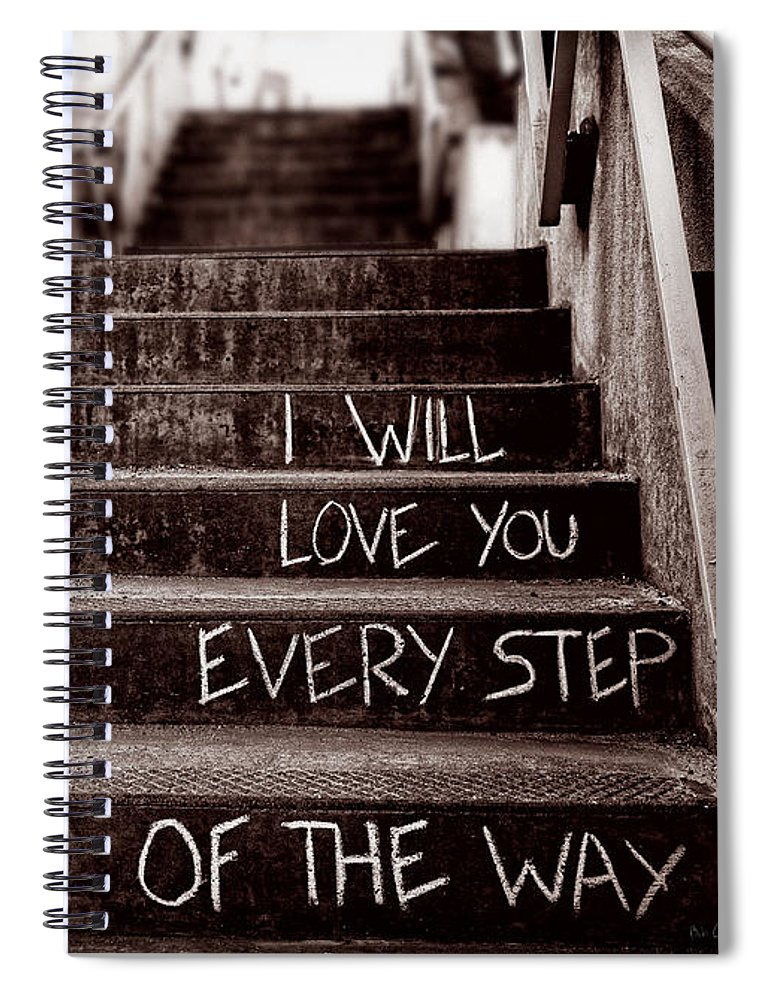 Love Spiral Notebook featuring the photograph I Will Love You by Bob Orsillo