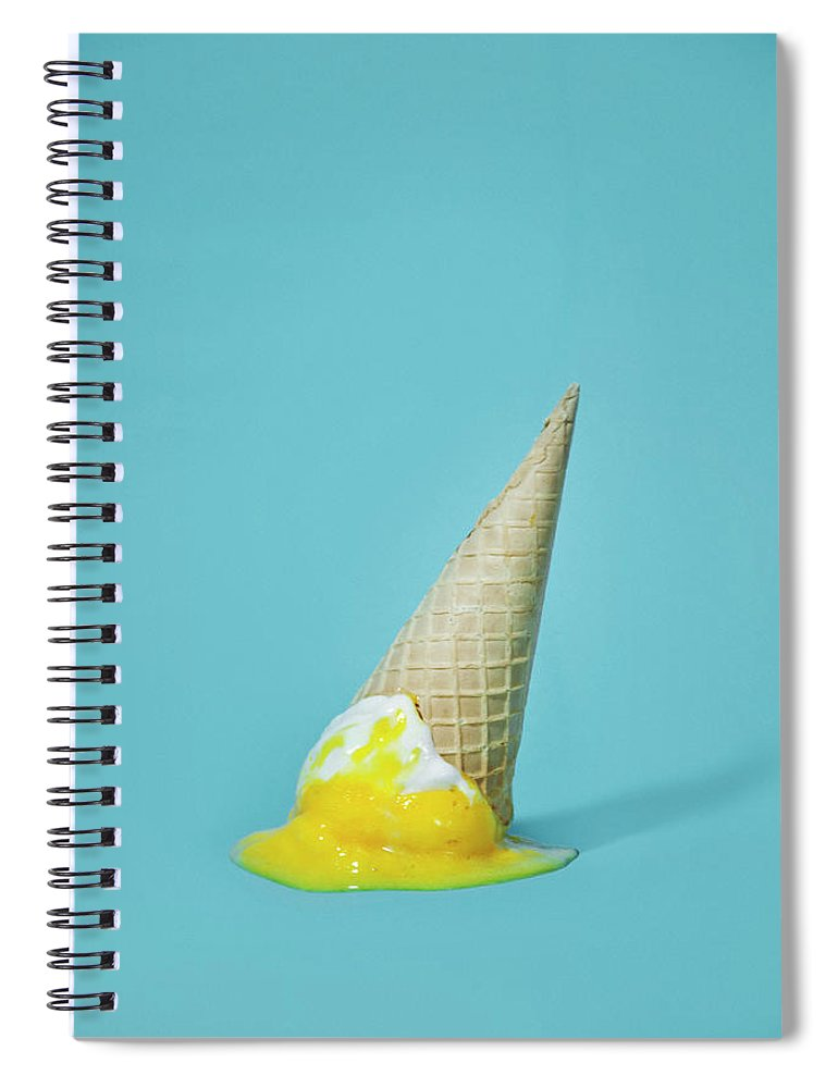 Melting Spiral Notebook featuring the photograph Ice Cream by All Kind Of Things In Photo