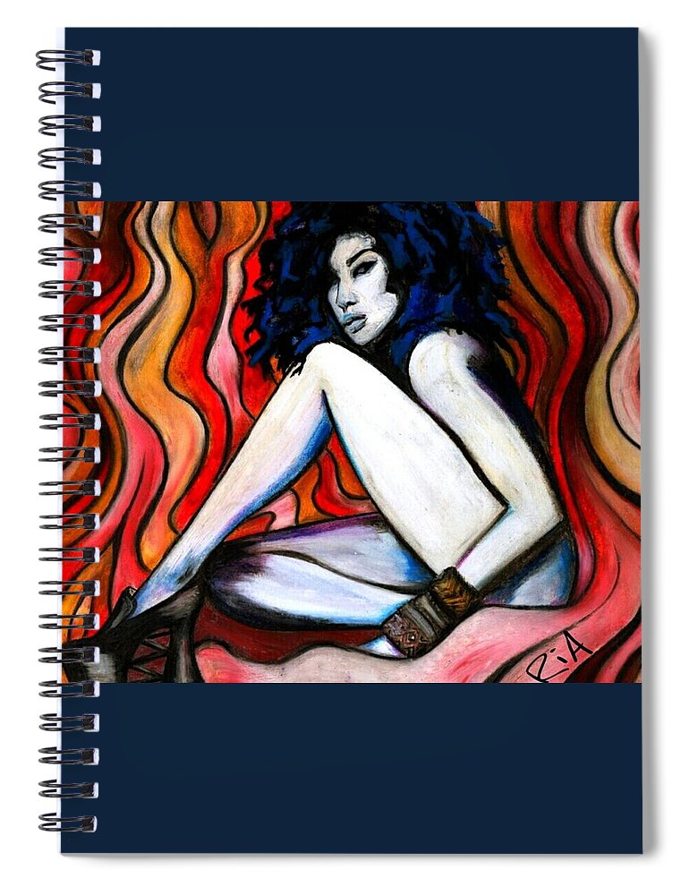 Beautiful Spiral Notebook featuring the photograph ICY hottt by Artist RiA