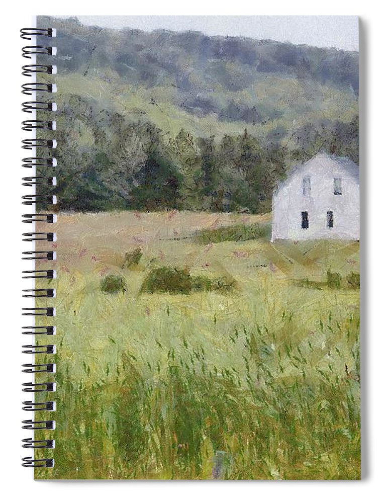 Alone Spiral Notebook featuring the painting Idyllic Isolation by Jeffrey Kolker