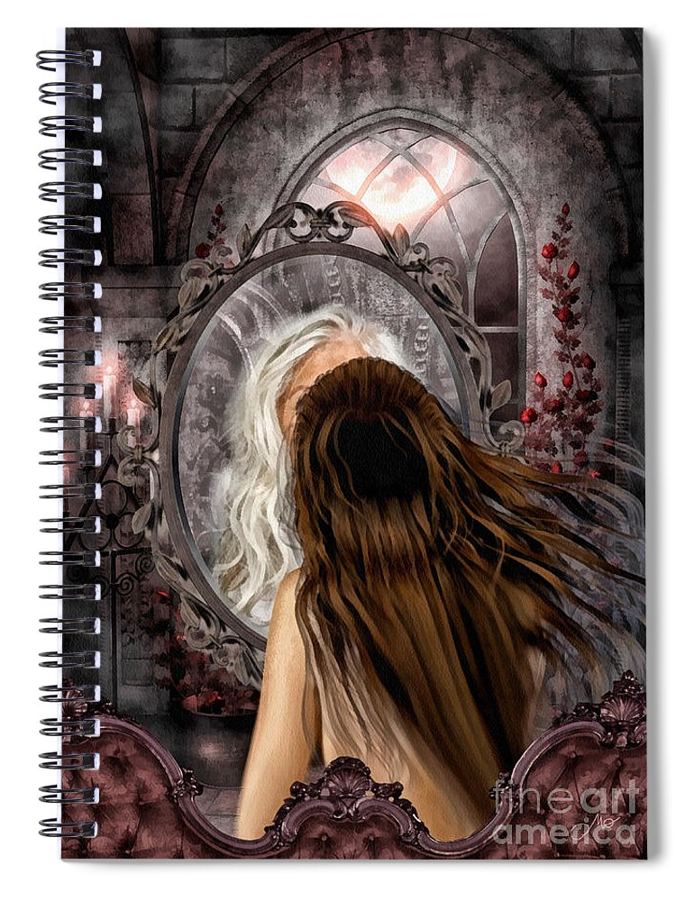 Immortality Spiral Notebook featuring the painting Immortality by Mo T