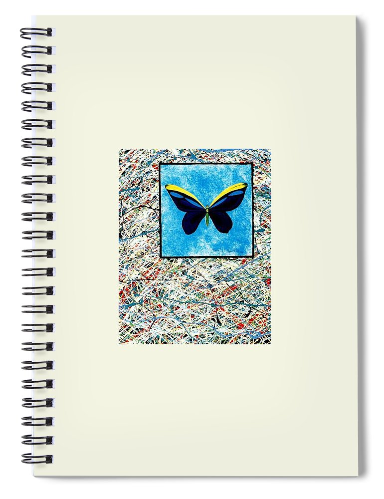 Abstract Spiral Notebook featuring the painting Imperfect II by Micah Guenther