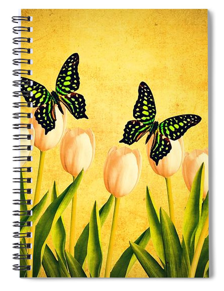 Edward Spiral Notebook featuring the photograph In The Butterfly Garden by Edward Fielding