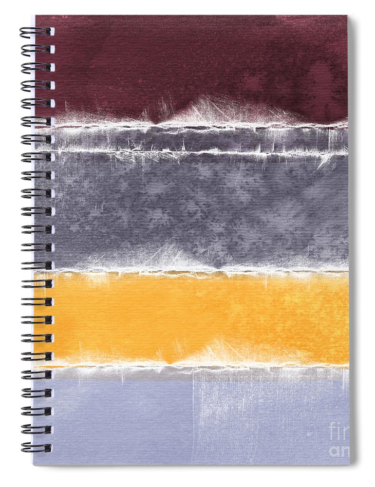 Abstract Spiral Notebook featuring the painting Indian Summer by Linda Woods