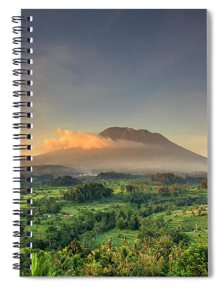 Scenics Spiral Notebook featuring the photograph Indonesia, Bali, Forest And Gunung by Michele Falzone