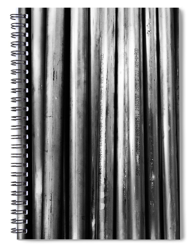Pipe Spiral Notebook featuring the photograph Industrial Lines by Robert Hayton