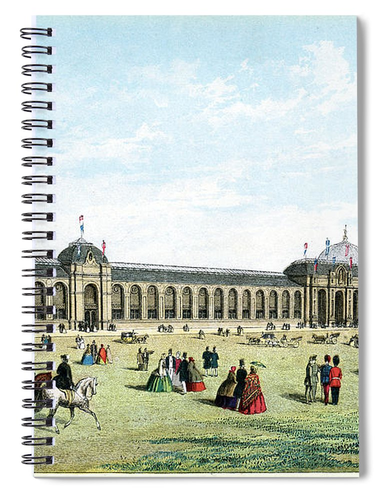Event Spiral Notebook featuring the digital art International Exhibition Of 1862 by Duncan1890