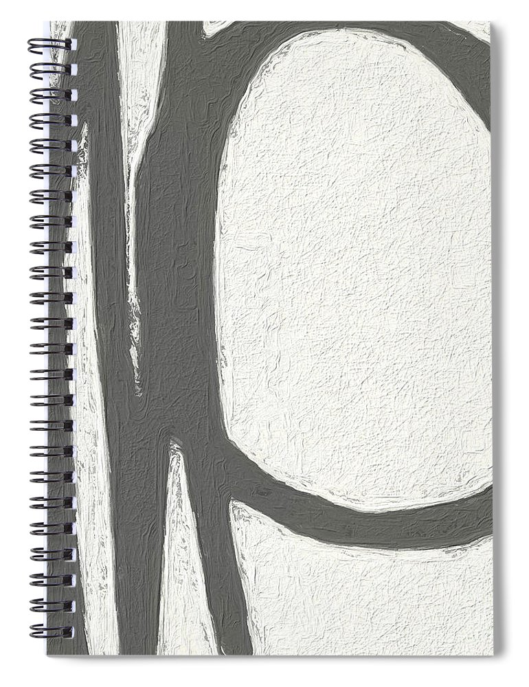 Abstract Spiral Notebook featuring the painting Intersection by Linda Woods