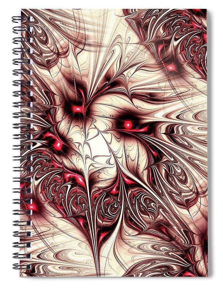 Malakhova Spiral Notebook featuring the digital art Invasion by Anastasiya Malakhova