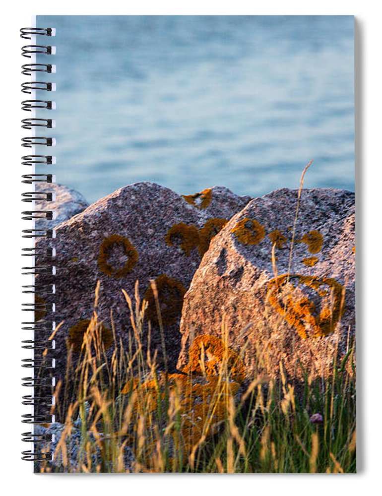Large Rocks At Scotland Spiral Notebook featuring the photograph Inverness Beach Rocks by Iris Richardson