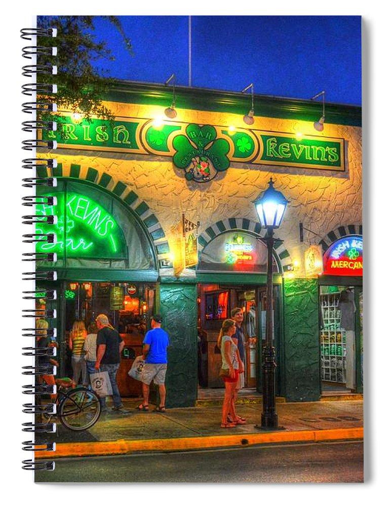Irish Kevins Spiral Notebook featuring the photograph Irish Kevin's Bar by Debbi Granruth