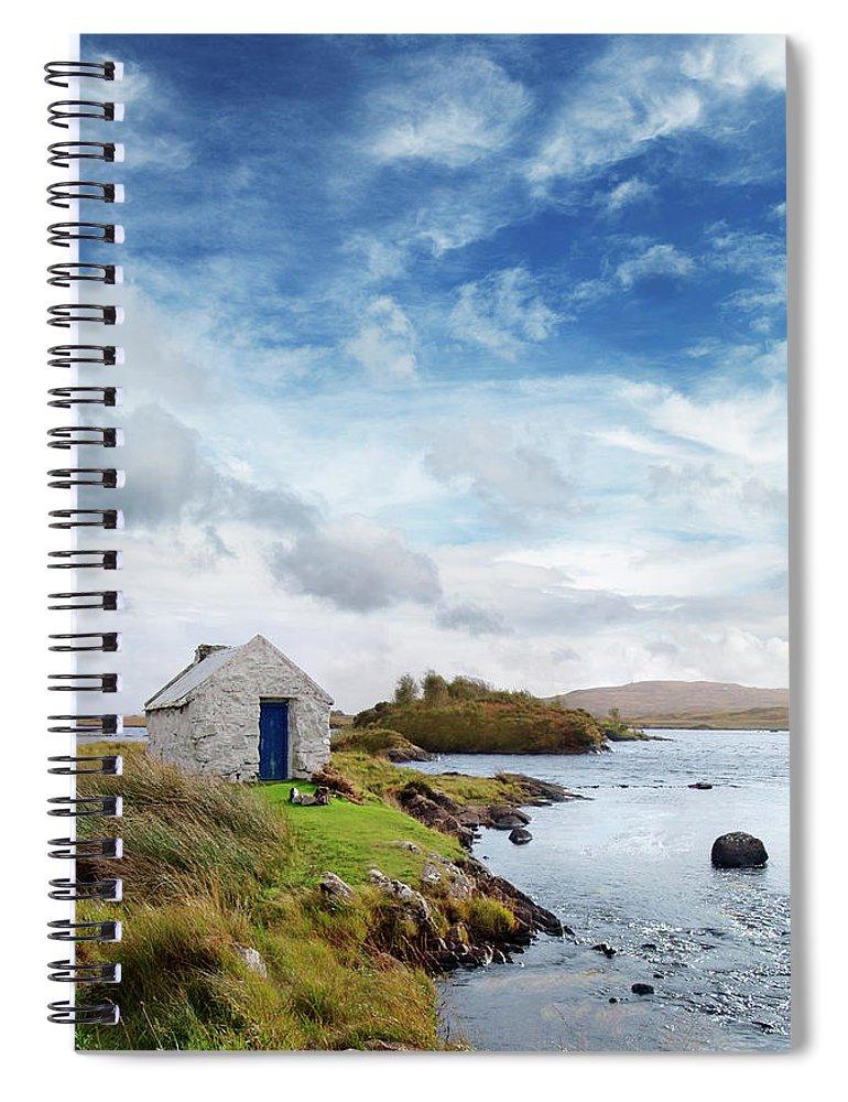 Water's Edge Spiral Notebook featuring the photograph Irish Landscape In Connemara by Narvikk