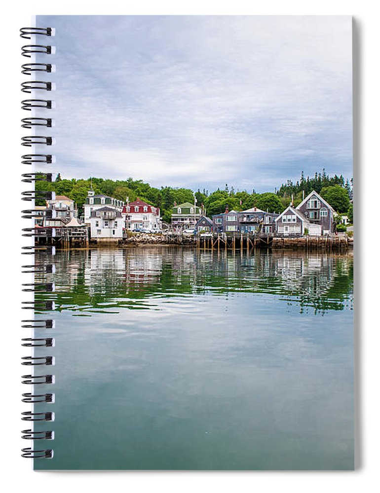 Town Spiral Notebook featuring the photograph Island Village by Edwin Remsberg