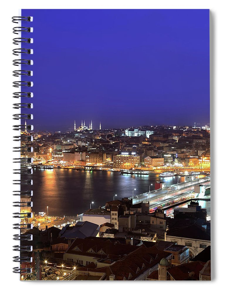 Istanbul Spiral Notebook featuring the photograph Istanbul by Tolga Tezcan