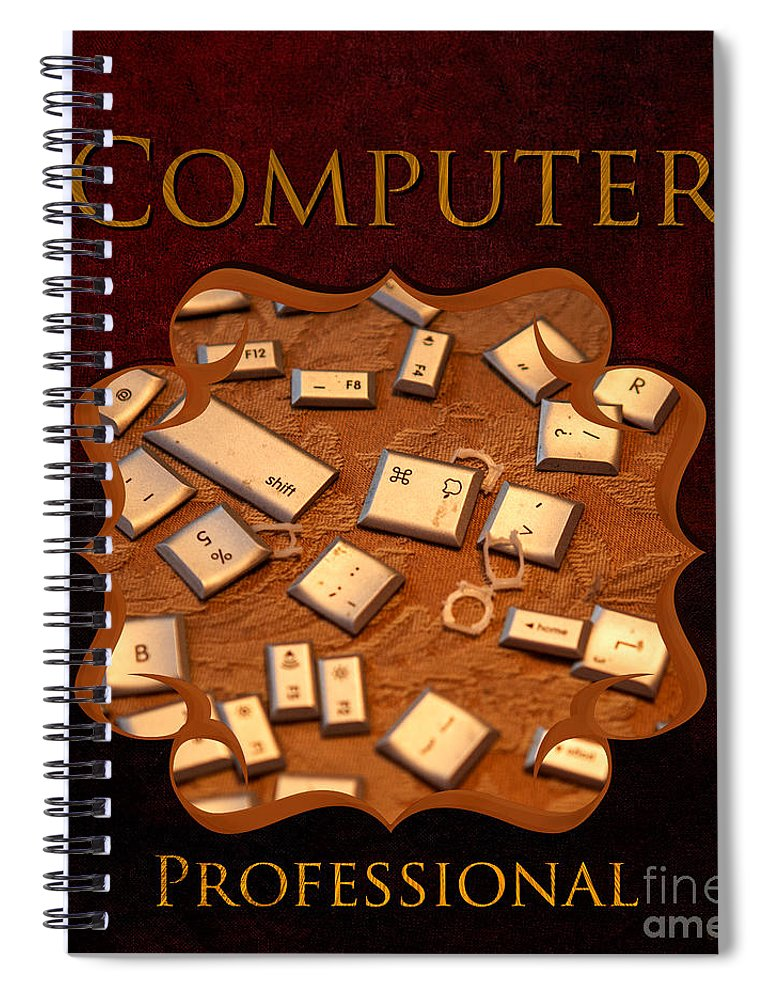 Iris Holzer Richardson Spiral Notebook featuring the photograph IT Computer Professional by Iris Richardson