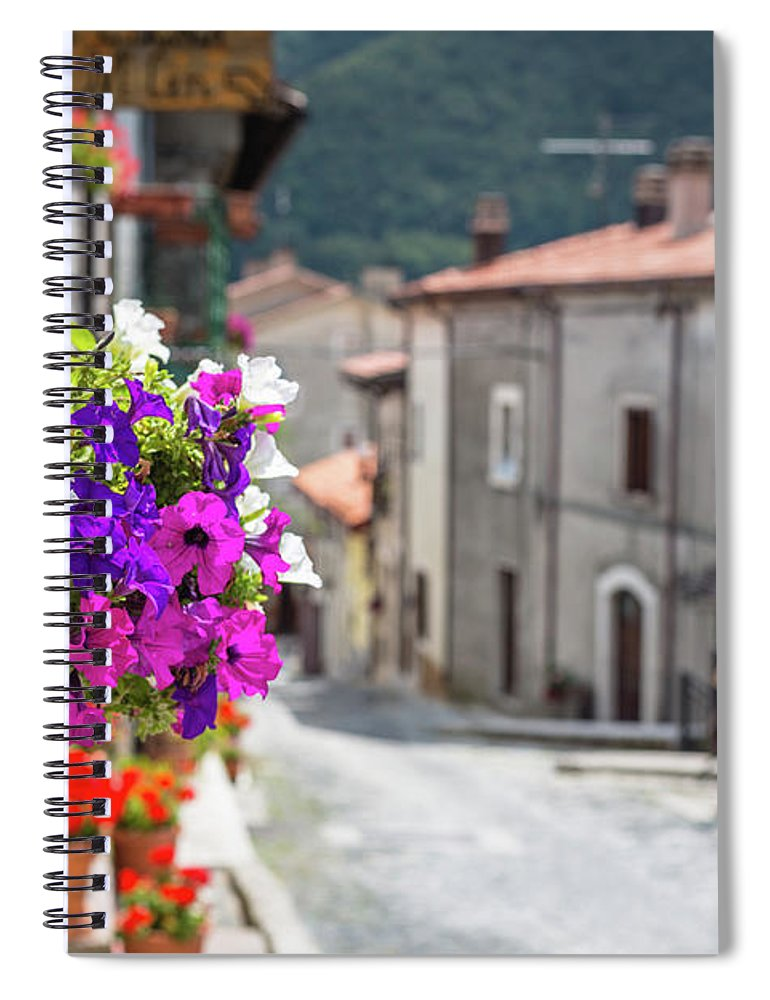 Shutter Spiral Notebook featuring the photograph Italian Country In Abruzzo by Deimagine