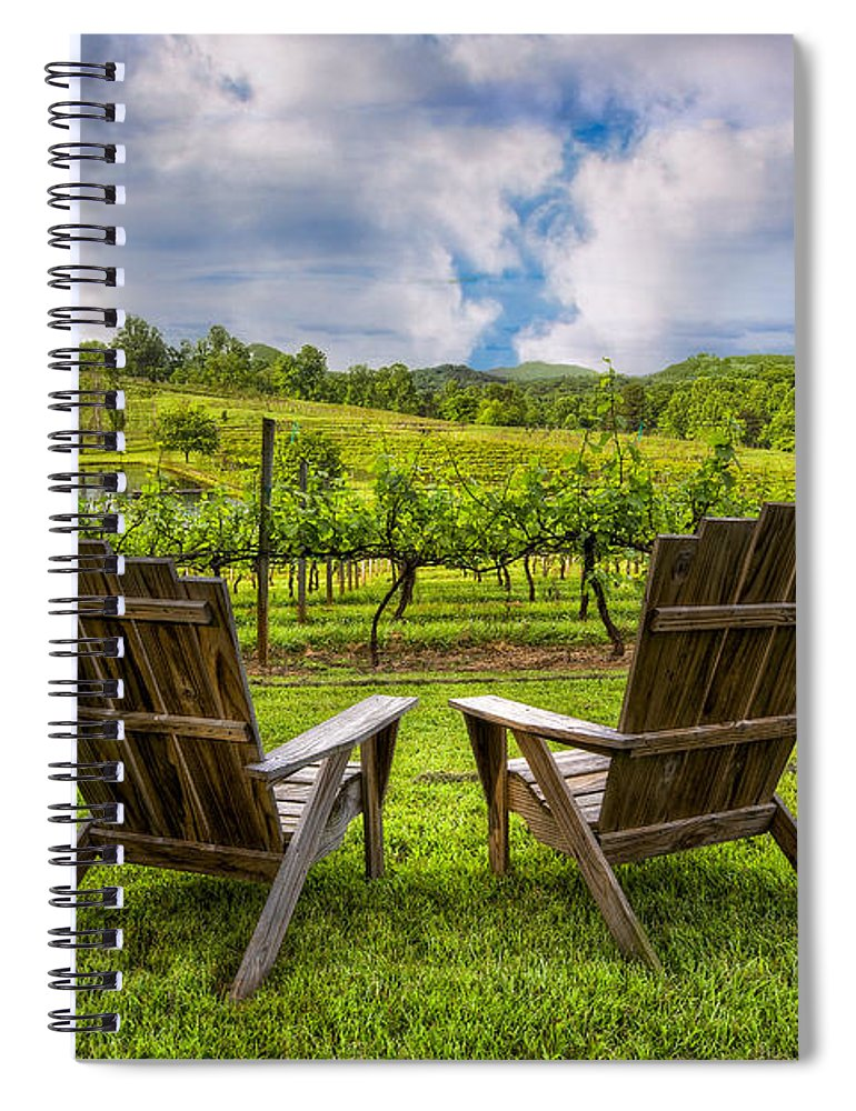 Appalachia Spiral Notebook featuring the photograph It's Happy Hour by Debra and Dave Vanderlaan